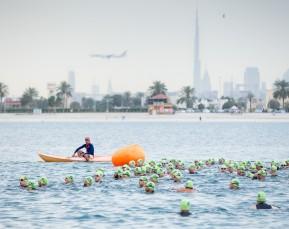 Triathlon Swimming   Burj Khalifa     Sport Photographer   Cameron Clegg Photography   Sydney, Australia
